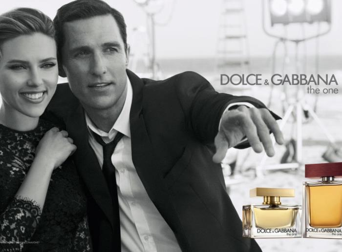 Scarlett Johansson and Matthew McConaughey for Dolce and Gabbana