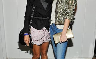 Isabel Marant with Rosie Huntington Whiteley