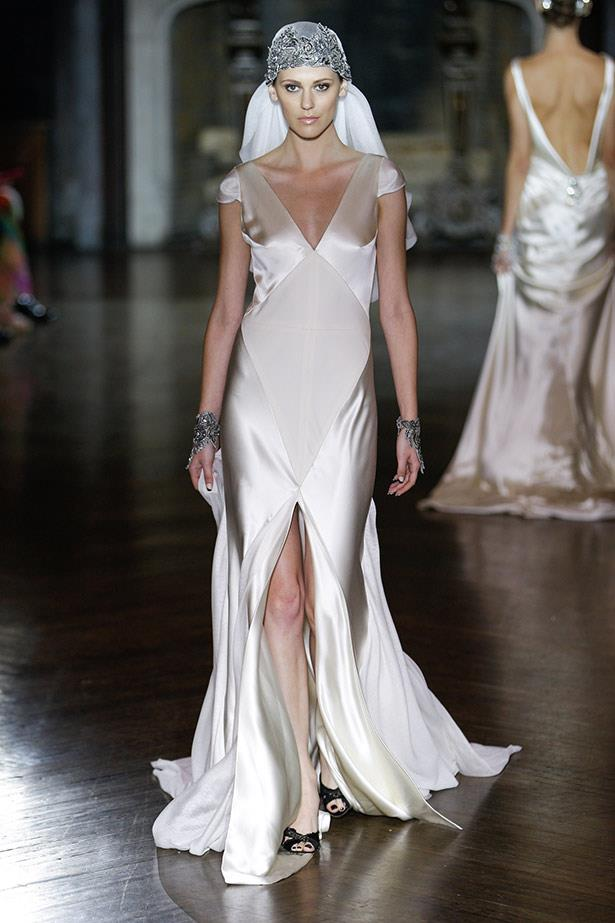 Johanna Johnson AW14 bridal runway show in <br>New York