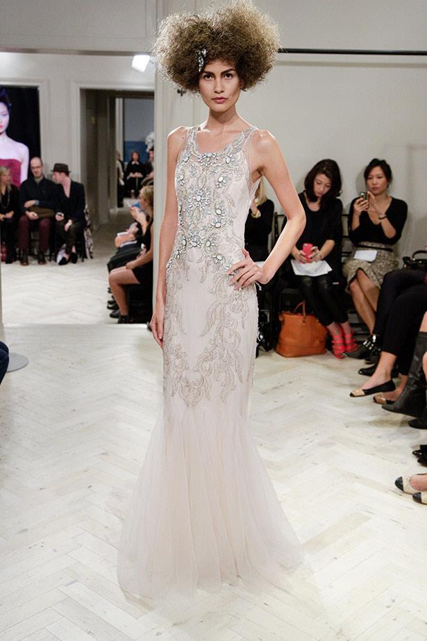 Badgley Mischka AW14 bridal runway show in <br>New York
