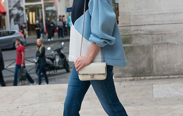 Hanneli Mustaparta wearing Stella McCartney jeans in Paris