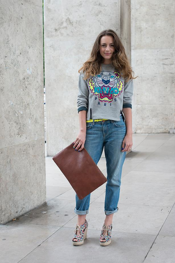 A casual take on the jersey jumper – just add boyfriend jeans and wedges and you're good to go.