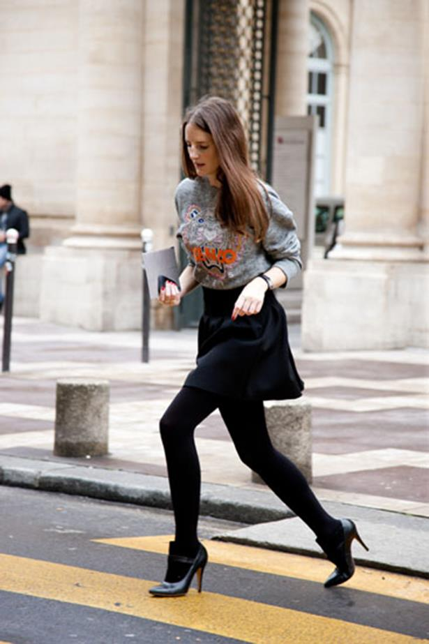 Another example of how to turn the jumper into workwear – just add a pencil skirt and boots.