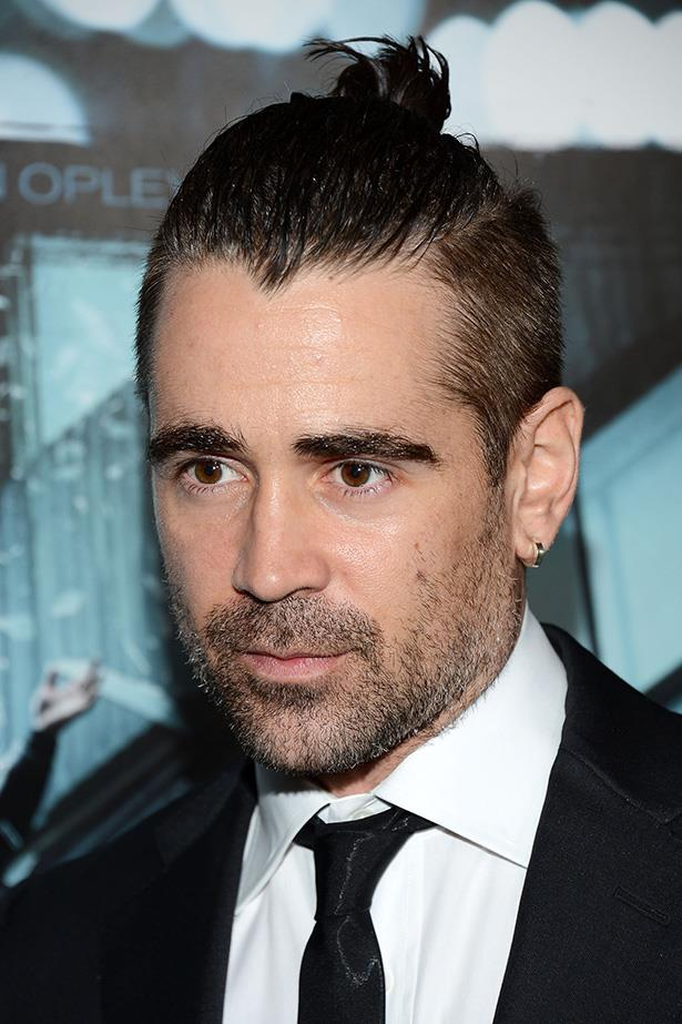 On the red carpet with an edgier version of the top-knot, bad-boy Colin Farrell's short back and sides injects a little punk to his otherwise dapper look.