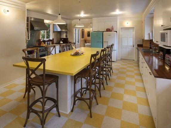 The kitchen of Drew Barrymore's home