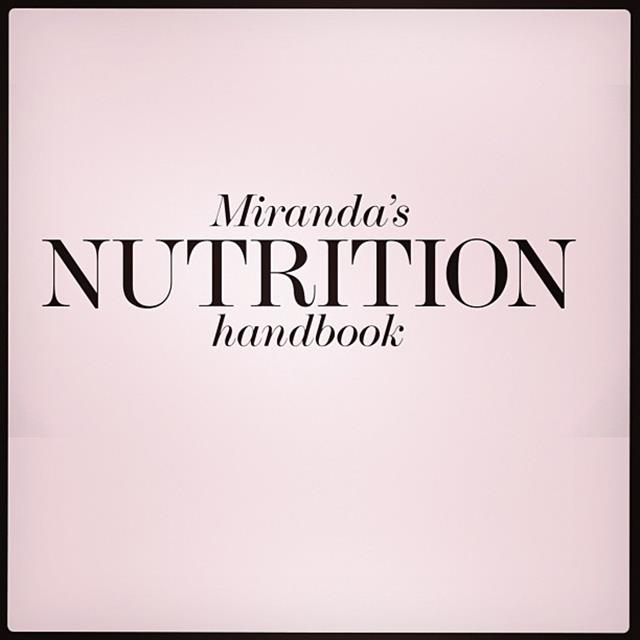 "<p>""#Nutrition video now live @netaporter #healthyliving"" </p> <p><strong>FYI</strong>: Miranda is a qualified nutritionist </p>"