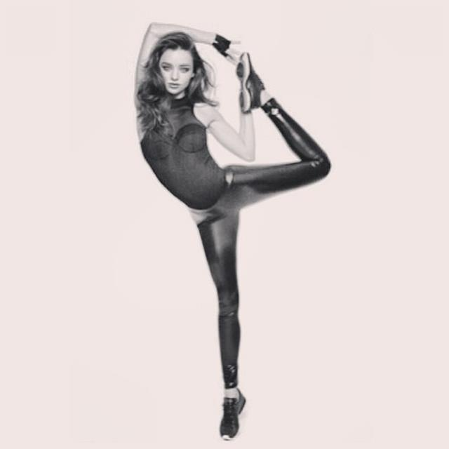 """<p>""""Thanks again @reebok_usa""""</p> <p><strong>FYI</strong>: Miranda thanks yoga and ballet for keeping her supple and strong</p>"""