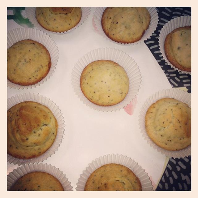 """<p>""""My freshly baked gluten free muffins made with chia seeds delicious!""""</p> <p><strong>FYI</strong>: Kerr only eats certified organic foods and prefers gluten-free and low-GI options</p>"""
