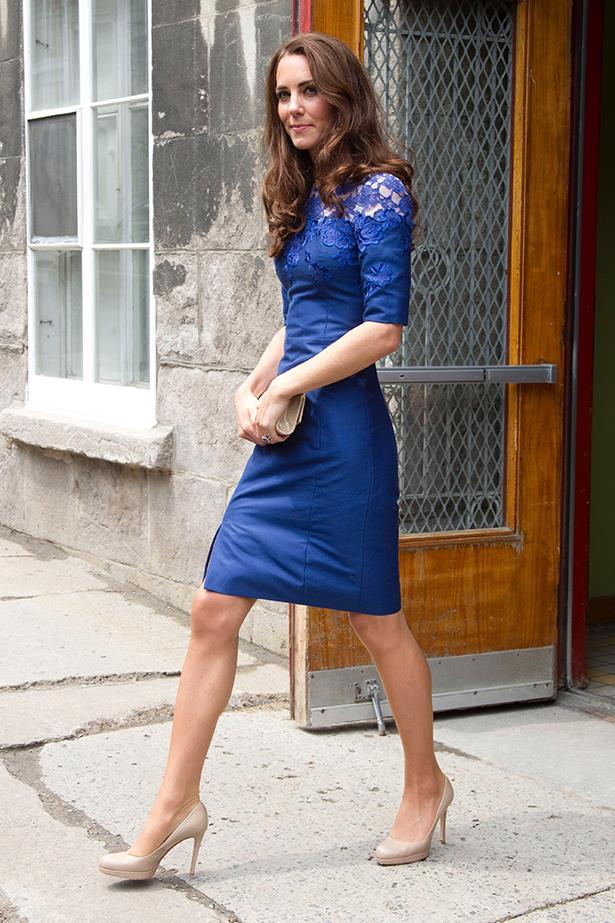 Duchess Kate in blue Erdem dress