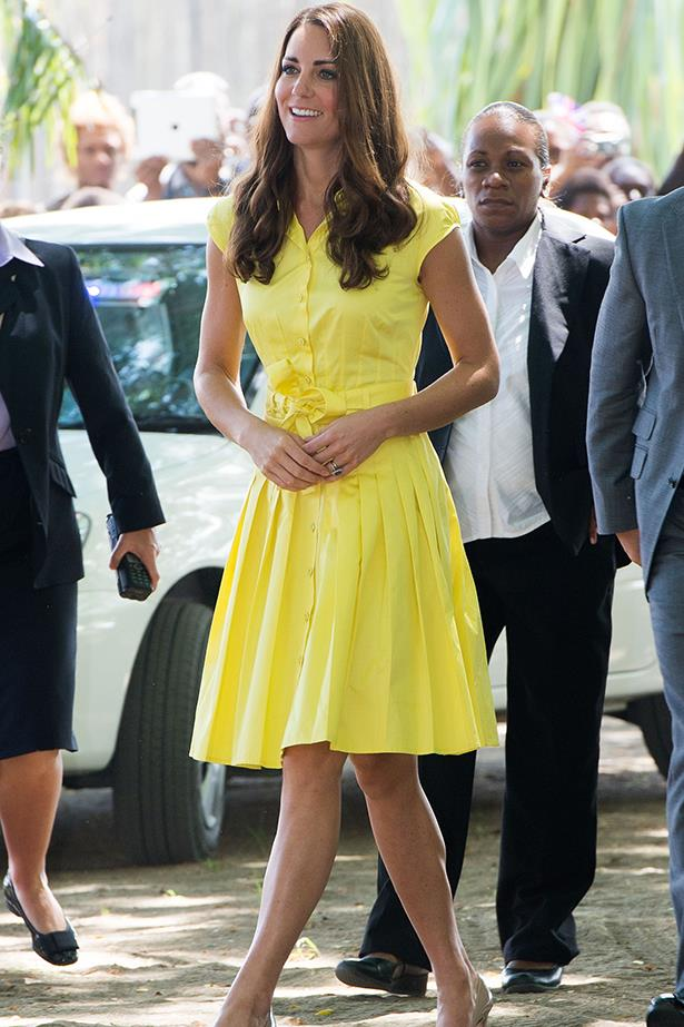 Duchess Kate wears Jaeger dress