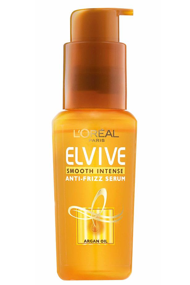 "Enriched with silk proteins, Elvive will keep your locks smooth in summer humidity.<BR><BR> Elvive Smooth-Intense Serum by L'Oreal Paris, $11.99 at [Priceline](https://www.priceline.com.au/l-oreal-paris-elvive-smooth-intense-serum-50-ml|target=""_blank""
