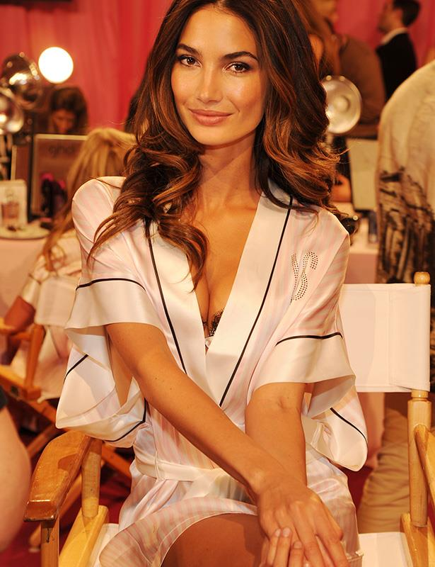 Lily Aldridge looks picture perfect backstage