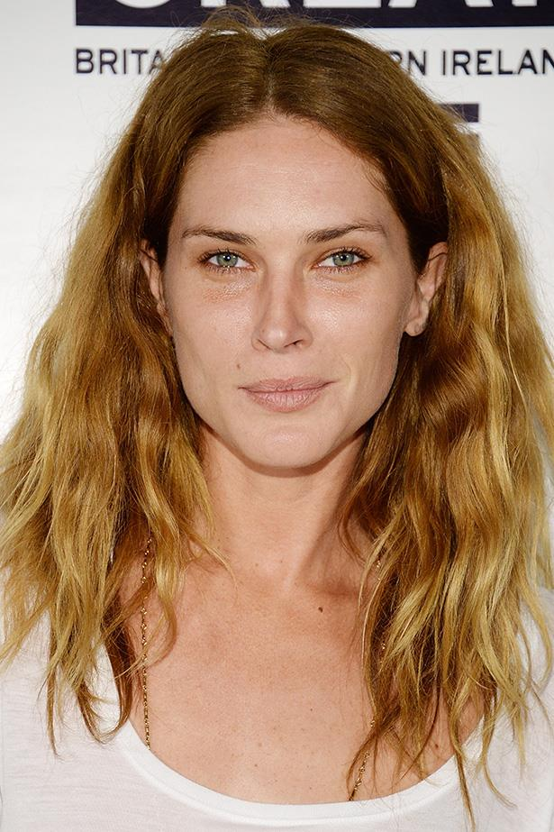 A subtle bronze shadow warms the cool complexion of Erin Wasson.