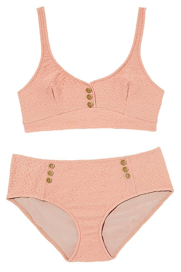 "<p>Beach club: sweeten your swim with sorbet shades</p> <p>Bikini, $95 per piece, Kate Sylvester, <a href=""http://www.katesylvester.com"">katesylvester.com</a></p>"