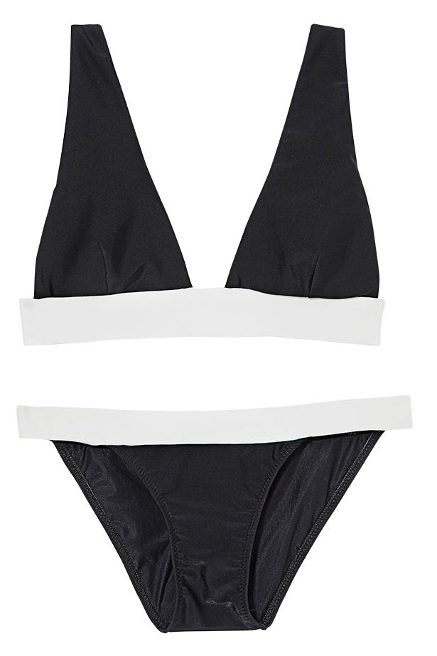 "<p>Sails pitch: not Caribbean bound? At least look yacht-ready in black and white</p> <p>Bikini, $249, Manning Cartell, <a href=""http://www.manningcartell.com"">manningcartell.com</a>"