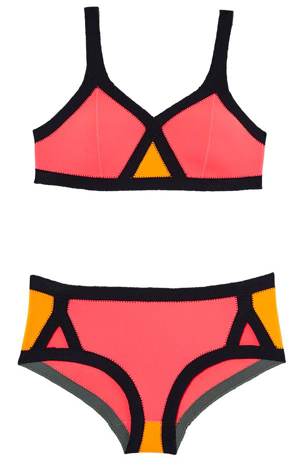 "<p>New wave: whether it's surfboards at sunrise or catching the afternoon sun, sporty brights fit right in</p> <p>Bikini, $182, Shakuhachi, <a href=""http://www.shakuhachi.net"">shakuhachi.net</a></p>"
