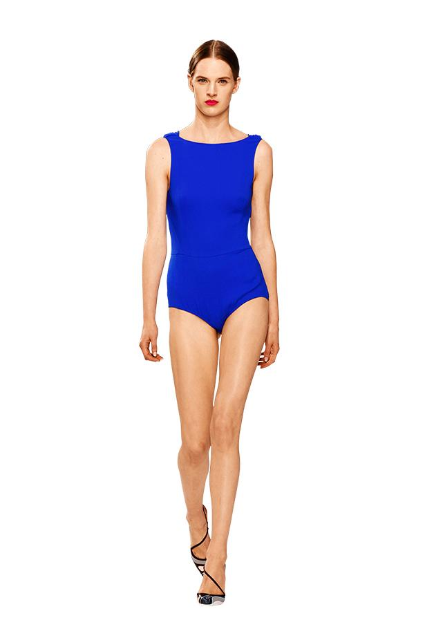 <p>New wave: whether it's surfboards at sunrise or catching the afternoon sun, sporty brights fit right in</p> <p>A cobalt blue swimsuit on Dior's runway</p>
