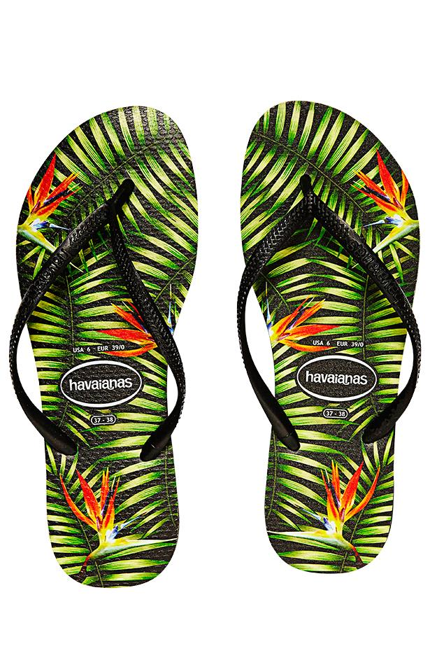 "<p>Fantasy island: Hawaii may not be on the cards, but you can still indulge in some hibiscus print</p> <p>Thongs, $29.95, Havaianas, <a href=""http://www.havaianasaustralia.com.au/"">havainasaustralia.com.au</a></p>"