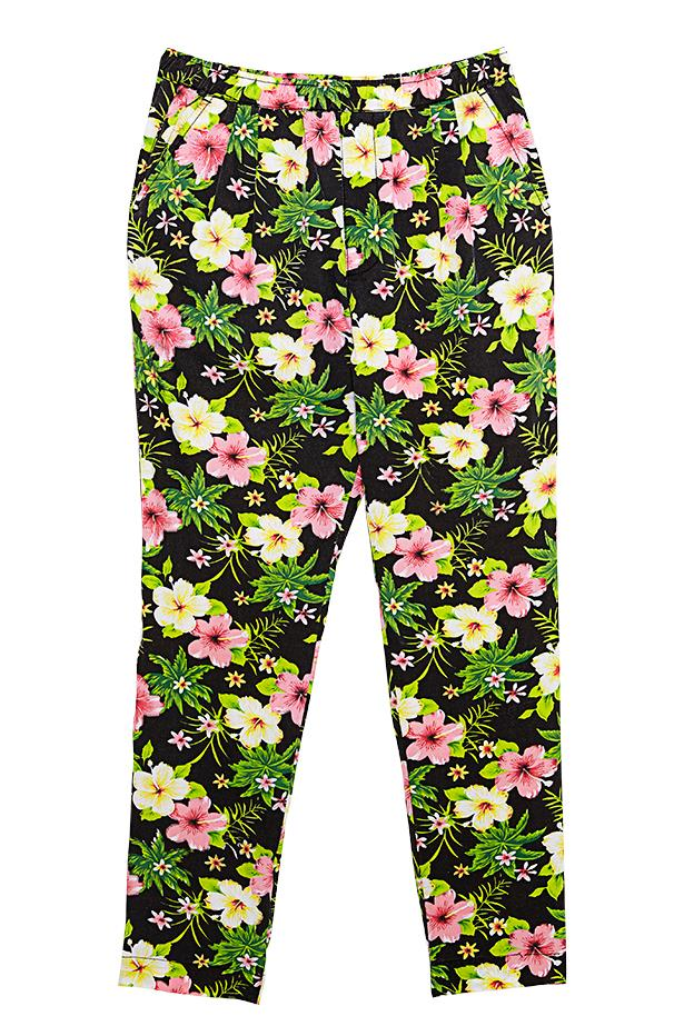 "<p>Fantasy island: Hawaii may not be on the cards, but you can still indulge in some hibiscus print</p> <p>Trousers, $200, Vanishing Elephant, <a href=""http://www.vanishingelephant.com"">vanishingelephant.com</a></p>"