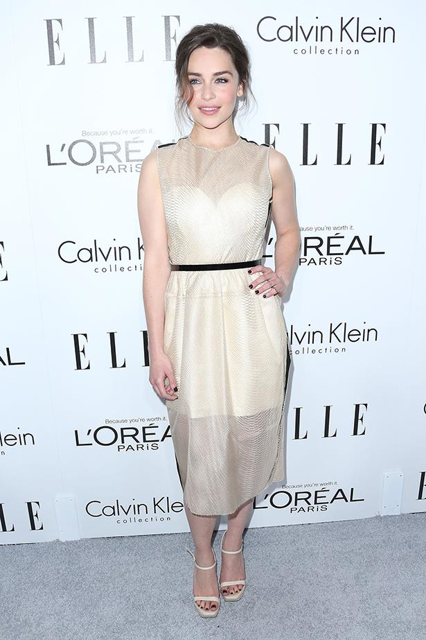 <p><strong>Emilia Clarke </strong></p> <p>While her<em> Game Of Thrones </em>costumes are certainly eye-catching, it's British actress Emilia Clarke's street and red-carpet ensembles that have had us sitting up to take notice. The 26-year-old looks just as good in a feminine frock as she does a pair of boyfriend jeans and blazer, and all the fashion houses are clambering over each other to dress her. </p>