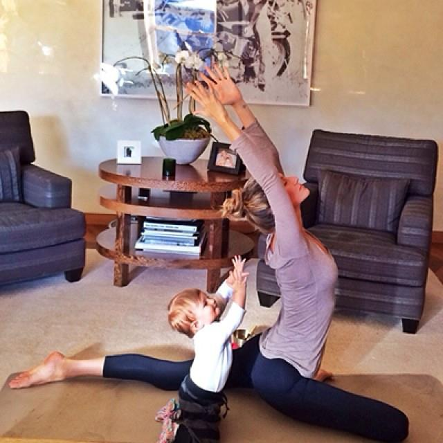 More yoga with Vivian, who we suspect is going to be a Yogi by the age of two.