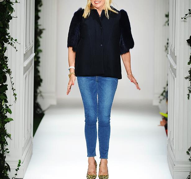 Designer Emma Hill on the runway