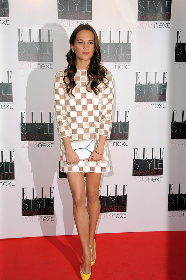 <strong><p>Best foreign language sensation</p> <p>Alicia Vikander</p></strong> <i>Image: Wearing Louis Vuitton at the Elle Style Awards.</i>