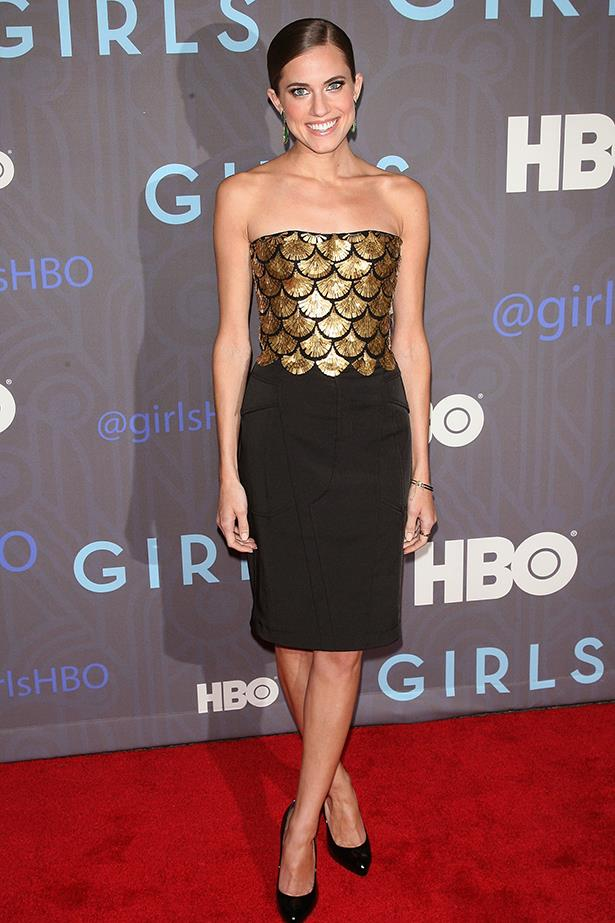 <p><strong>Most promising newcomer</strong></p> <p><strong>Allison Williams</strong></p> <i>Image: Wearing Altuzzara at the </i>Girls<i> premiere, in New York.</i>