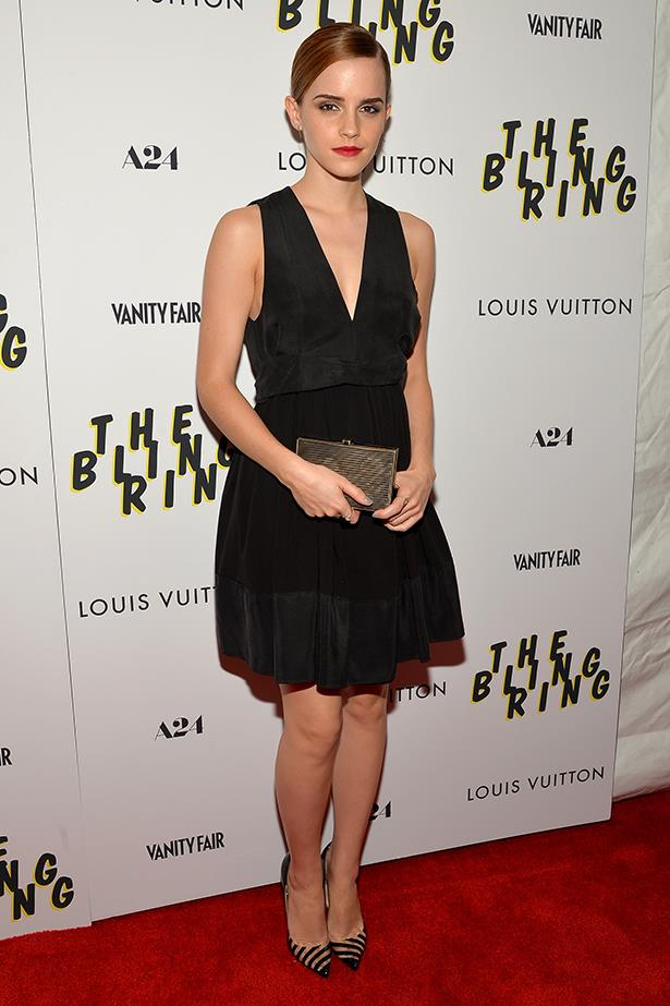 <p><strong>Honourable mention</strong></p> <p><strong>Emma Watson</strong></p> <i>Image: In Louis Vuitton at a </i>Bling Ring<i> screening, in New York City.</i>