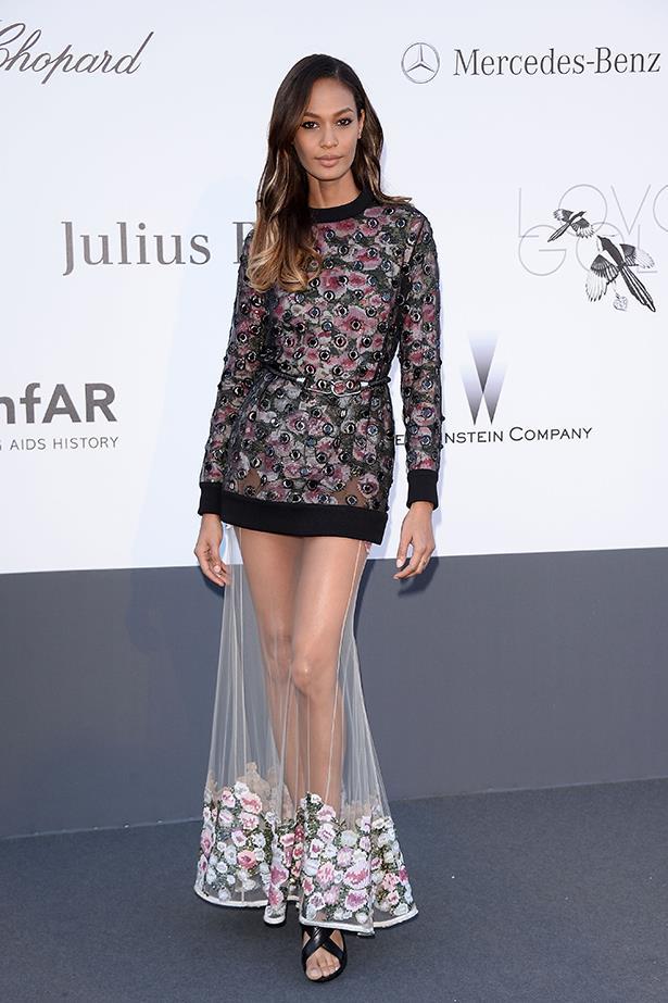 <p><strong>Model mention</strong></p> <p><strong>Joan Smalls</strong></p> <i>Image: Wearing Givenchy at the amfAR Gala.</i>
