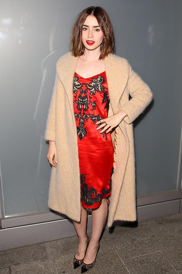 <p><strong>Most elegant display of midriff</strong></p> <p><strong>Lily Collins</strong></p> <i>Image: Wearing Givenchy at a Flaunt magazine party.</i>