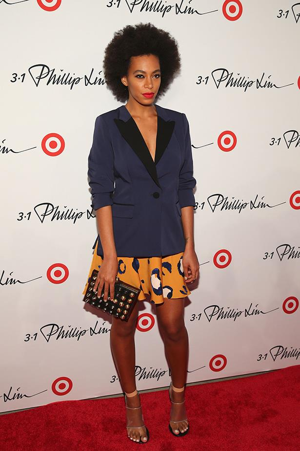 <p><strong>Independent spirit award</strong></p> <p><strong>Solange Knowles</strong></p> <i>Image: Wearing 3.1 Phillip Lim for Target at the launch event for the range.</i>