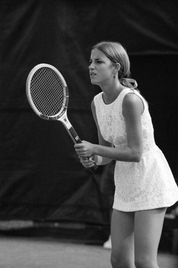 In 1971, 16-year-old Chris Evert took her America's Sweetheart title quite literally and played in a short lace dress.