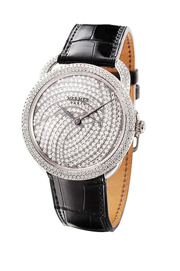 <p>Comprising 643 brilliant-cut diamonds hitched to an alligator strap... need we say more?</p> <p>Arceau 1928 watch, POA, Hermès, (02) 9287 3200</p>
