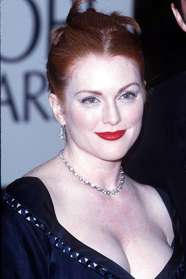 Julianne Moore at the 55th Annual Golden Globes in 1998.