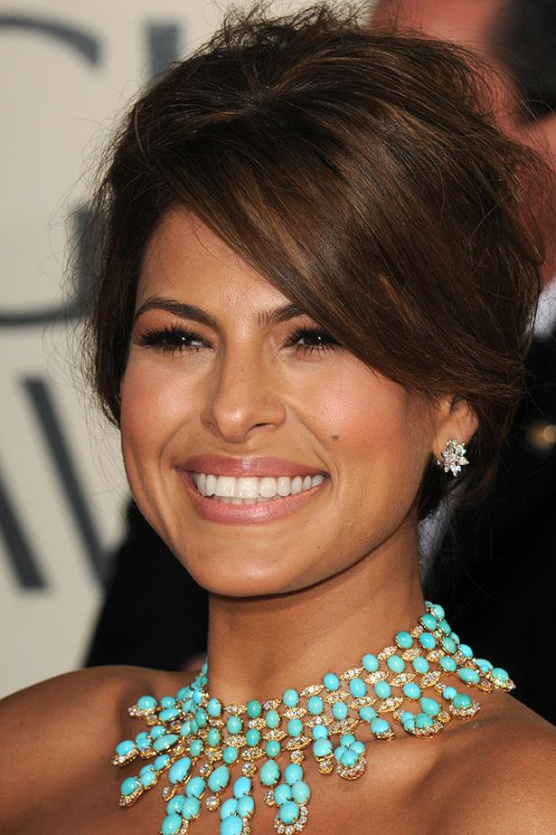 Eva Mendes at the 66th Annual Golden Globes in 2009.