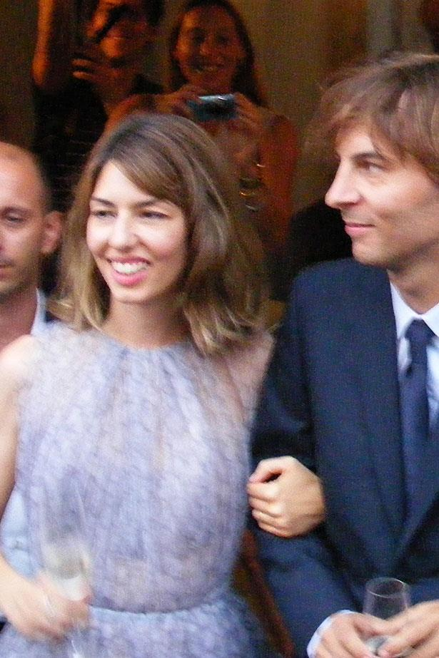 **Sofia Coppola**<br><br> In 2011, award-winning director Sofia Coppola chose a short, lilac Azzedine Alaia dress for her nuptials to Thomas Mars. </p>