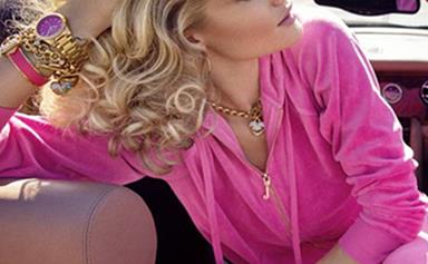 Rosie Huntington-Whiteley rocks a perm for Juicy Couture