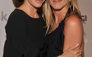 Best friends Courteney Cox and Jennifer Aniston
