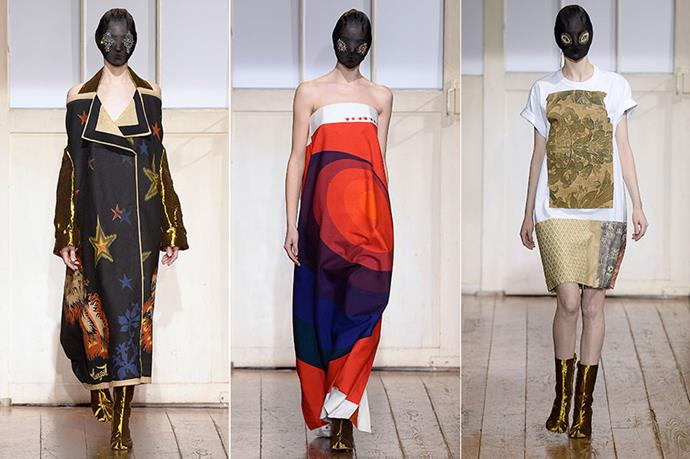 <P><strong>5. Maison Martin Margiela</strong></p> <p>A pencil skirt was created solely of silk scarfs from a '30s brothel and an oversized coat took featured '20s Bauhaus tapestry. Well, if anyone's going to take recycling to new heights…</p>