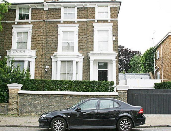 Gwyneth Paltrow's mansion in Belsize Park, London.