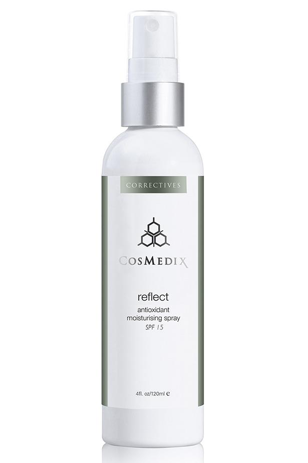 "A light spritz of moisture for dehydrated skin also provides sun protection via antioxidant ingredients.<br><br> Reflect Antioxidant Moisturising Spray SPF15 by Cosmedix, $77 at [Adore Beauty](https://www.adorebeauty.com.au/cosmedix/cosmedix-reflect-spf-30-natural-sunscreen.html|target=""_blank""