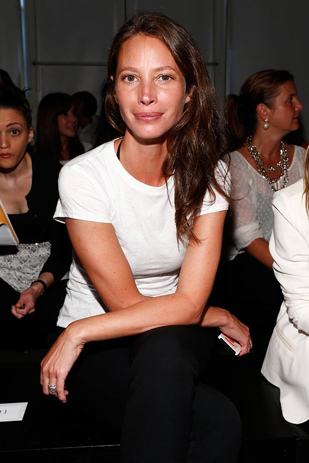 Supermodels over 40: Christy Turlington <br> Age: 45 <br> Christie Turnlington was discovered while horseback riding at the age of 14, but didn't pursue modelling fully until she graduated from high school. Her career has included over 500 magazine covers, and lately she has expanded her empire to include two fashion lines and a beauty line. She also has a degree from NYU.