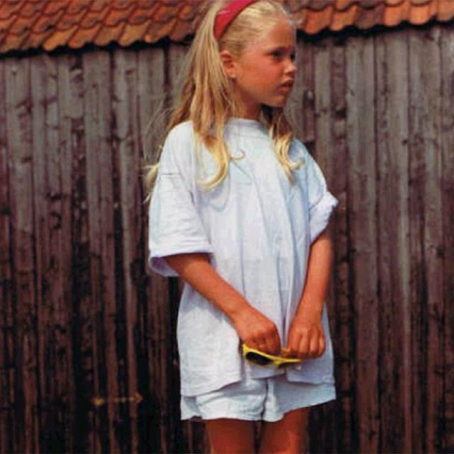 <strong>Doutzen Kroes</strong><br> We're into this look: props for being fashion-forward from a young age, mini-Doutzen.