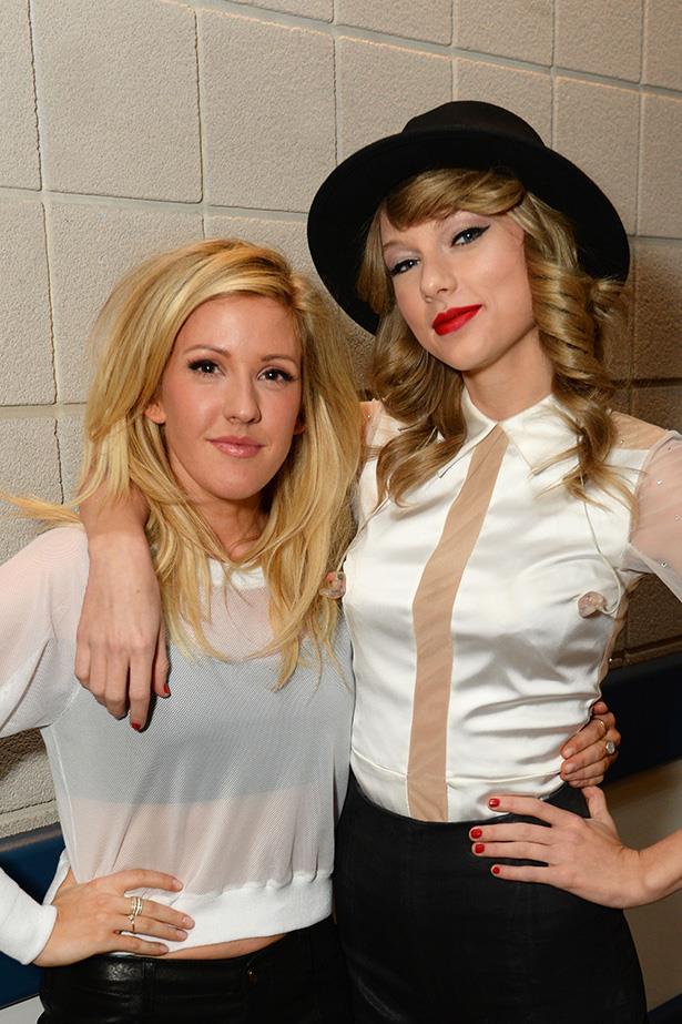 Backstage on the same night, Swift posed with Goulding before she took to the stage at the O2 Arena.