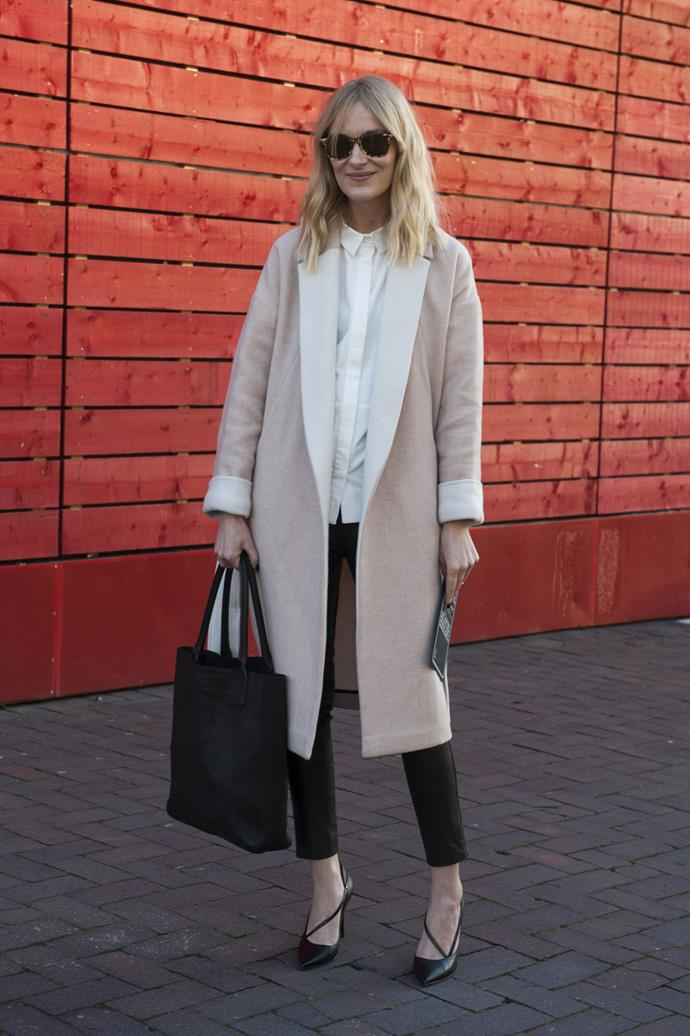 Beige man style coats are a great investment – they never date