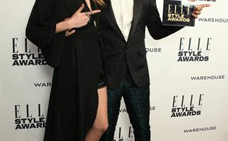 Cara Delevingne and Pharell on the ELLE Style Awards red carpet