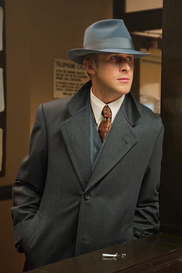 <strong>Gangster Squad</strong><br> Those three-piece suits, that innate sense of justice. Ryan Gosling is unbearably suave in this '40s-inspired noir film