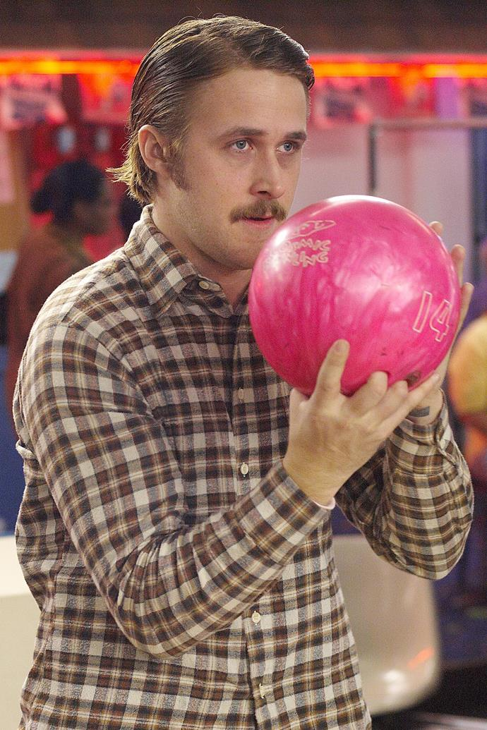 <strong>Lars And The Real Girl</strong><br> Even in a monogrammed knit, a moustache and a penchant for finding love in unexpected places, there is no denying the handsomeness that is Ryan Gosling.
