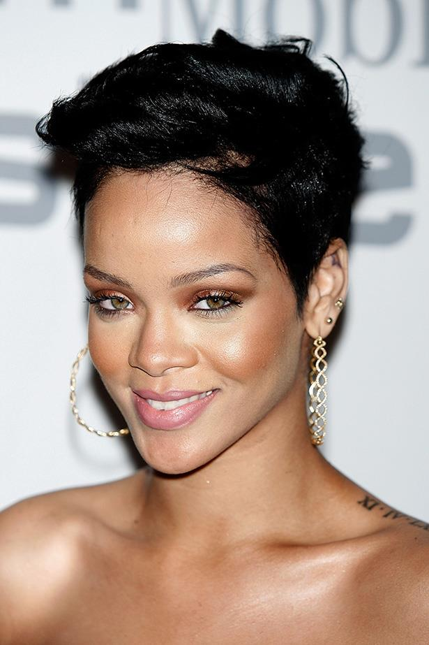 Rihanna took control of her image when she lobbed off her hair in late 2008, unbeknownst to her record label. She attended a pre-Grammy event in early 2009 with her new style textured and swept back.